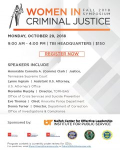2018 Fall Women in Criminal Justice Symposium